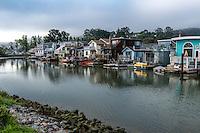 Houseboat Community in Galilee Harbor Sausalito San Francisco