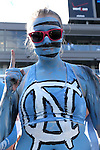 30 August 2014: UNC fan. The University of North Carolina Tar Heels hosted the Liberty University Flames at Kenan Memorial Stadium in Chapel Hill, North Carolina in a 2014 NCAA Division I College Football game.