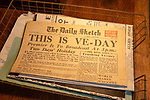 Landguard Fort, Felixstowe, Suffolk, England, UK Daily Sketch newspaper VE Day edition