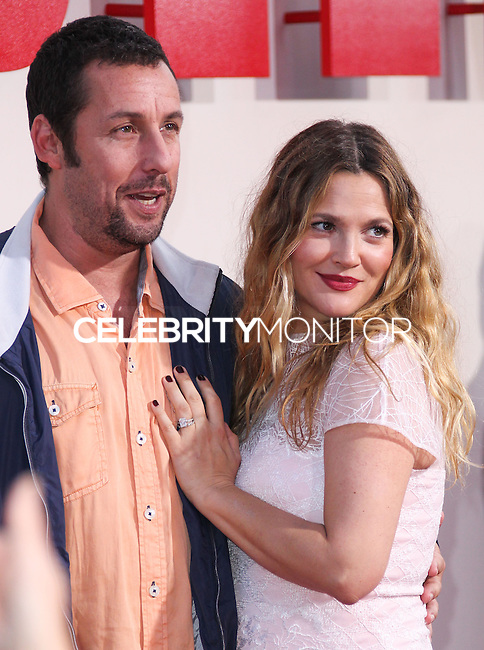 HOLLYWOOD, LOS ANGELES, CA, USA - MAY 21: Adam Sandler, Drew Barrymore at the Los Angeles Premiere Of Warner Bros. Pictures' 'Blended' held at the TCL Chinese Theatre on May 21, 2014 in Hollywood, Los Angeles, California, United States. (Photo by Xavier Collin/Celebrity Monitor)