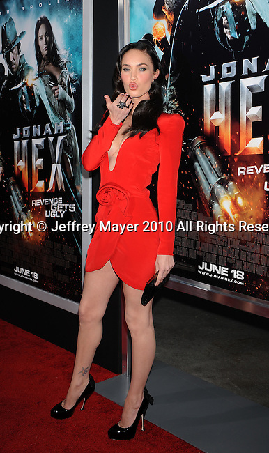 "LOS ANGELES, CA. - June 17: Megan Fox arrives at the ""Jonah Hex"" Los Angeles Premiere at ArcLight Cinemas Cinerama Dome on June 17, 2010 in Hollywood, California."