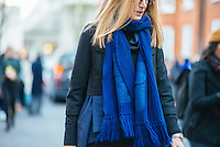Sarah Rutson attends Day 2 of London Fashion Week on Feb 21, 2015 (Photo by Hunter Abrams/Guest of a Guest)