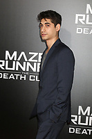 "LOS ANGELES - JAN 18:  Alexander Flores at the ""Maze Runner: The Death Cure"" Fan Screening at AMC 15 on January 18, 2018 in Century City, CA"