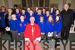 The 5th class pupils of Lisselton NS who were Confirmed by Bishop Ray Browne at St. Theresa's Church, Ballydonoghue . Front Row - Michael Nolan, Robert Foley, Bishop Ray Browne, Rebecca Barry, Tara O'Neill, Katie Moriarty<br /> Back Row - Mrs Crickard, Conor Ferris, Tadhg Barry, Emmett Kelly, Tadhg O'Carroll, Caoimhe Lyons, Ryan Doyle,<br /> Tori O'Connor, Ronan O'Neill, Edel Joy, Erin Flavin, Fr Lawlor.