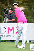 Jon Rahm (ESP) watches his tee shot on 8 during round 3 of the World Golf Championships, Mexico, Club De Golf Chapultepec, Mexico City, Mexico. 3/4/2017.<br /> Picture: Golffile | Ken Murray<br /> <br /> <br /> All photo usage must carry mandatory copyright credit (&copy; Golffile | Ken Murray)