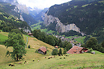 Cog railway leading to the Eiger, Lauterbrunnen, Switzerland.