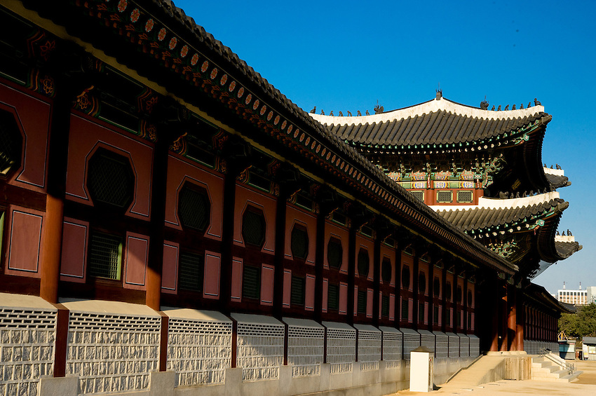 The entrance to Gyeongbokgung in Seoul, South Korea.