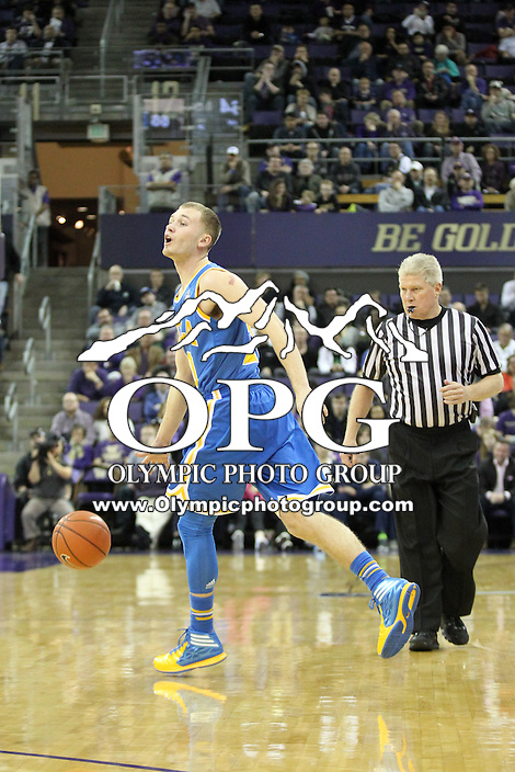 March 03, 2014:  UCLA's Bryce Alford against Washington.  UCLA defeated Washington 91-82 at Alaska Airlines Arena in Seattle, Washington.