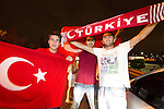 Fans of Turkey celebrate at the highroad after winning the second semifinal basketball match between National teams of Serbia and Turkey at 2010 FIBA World Championships. EXPA Pictures © 2010, PhotoCredit: EXPA/ Sportida/ Vid Ponikvar *** ATTENTION *** SLOVENIA OUT!