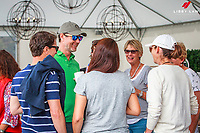 MINGLING WITH THE STARS: Three of our Four FEI Nations Cup Jumping - Abu Dhabi Winners: Bruce Goodin; Samantha McIntosh; Daniel Meech (Richard Gardner will be here tomorrow) during the Gold Tour Horse 1.40m Qualifier AM5 Art 238.2.2. Takapoto Estate Show Jumping. Friday 2 March. Takapoto Estate. Maungatautari. New Zealand. Copyright Photo: Libby Law Photography