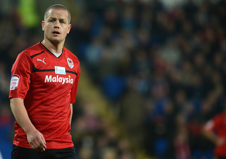 Cardiff City's Heidar Helguson  during todays match  ..Football - npower Football League Championship - Cardiff City v Derby County - Tuesday 05th March 2013 - Cardiff City Stadium - Cardiff..© CameraSport - 43 Linden Ave. Countesthorpe. Leicester. England. LE8 5PG - Tel: +44 (0) 116 277 4147 - admin@camerasport.com - www.camerasport.com