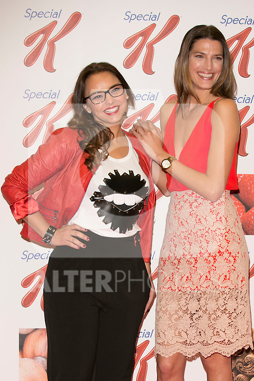 Laura Sanchez and Chenoa attend the Kellogs New Campaign Presentation at Atocha Station, Madrid,  Spain. March 10, 2015.(ALTERPHOTOS/)Carlos Dafonte)