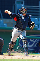 Minnesota Twins minor league catcher Danny Rams (24) during a game vs. the New York Mets in an Instructional League game at City of Palms Park in Fort Myers, Florida;  October 4, 2010.  Photo By Mike Janes/Four Seam Images
