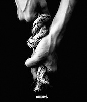 When you reach the end of your rope, tie a knot in it and hang on.<br /> - Thomas Jefferson