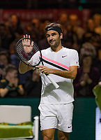 ABNAMRO World Tennis Tournament, 15 Februari, 2018, Rotterdam, The Netherlands, Ahoy, Tennis, Roger Federer (SUI)<br /> <br /> Photo: www.tennisimages.com