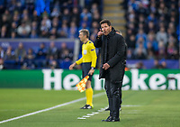 Club Atletico de Madrid Diego Simeone Head Coach (Manager) during the UEFA Champions League QF 2nd Leg match between Leicester City and Atletico Madrid at the King Power Stadium, Leicester, England on 18 April 2017. Photo by Andy Rowland.