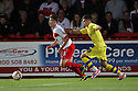 Luke Freeman of Stevenage escapes from Jamie Paterson of Walsall. Stevenage v Walsall - npower League 1 -  Lamex Stadium, Stevenage - 18th September, 2012. © Kevin Coleman 2012.