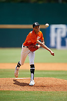Elmer Rodriguez-Cruz (2) of Leadership Christian Academy in Trujillo Alto, PR during the Perfect Game National Showcase at Hoover Metropolitan Stadium on June 20, 2020 in Hoover, Alabama. (Mike Janes/Four Seam Images)