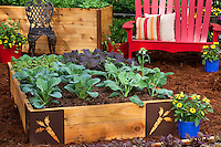 Sakata - raised bed square foot vegetable demonstration garden