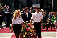 May 1992 File Photo - Montreal (Qc) CANADA - Ceremonies of Montreal 350th anniversary : Quebec Premier Robert Bourassa (M)