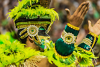 SÃO PAULO, SP, 09.03.2019 - CARNAVAL-SP - Integrante da escola de samba Mancha Verde durante Desfile das campeãs do Carnaval de São Paulo, no Sambódromo do Anhembi em Sao Paulo, na madrugada deste sábado, 09. (Foto: Anderson Lira/Brazil Photo Press)