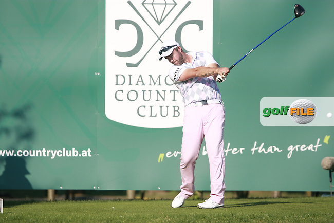 Christian Nilsson (SWE) tees off on the 18th tee during Saturday's Round 3 of the Austrian Open presented by Lyoness at the Diamond Country Club, Atzenbrugg, Austria, 24th September 2011 (Photo Eoin Clarke/www.golffile.ie)