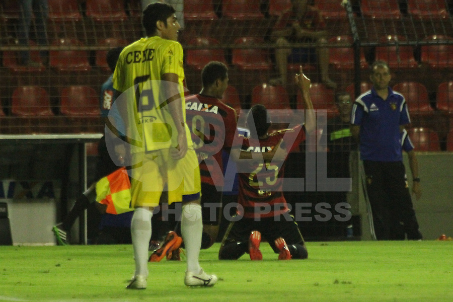RECIFE, PE, 16.04.2015 - COPA DO BRASIL 2015 - SPORT X CENE - MS,  Neto Moura comemora o 4 gol do Sport durante a partida Sport x Cene - MS válida pela Copa do Brasil 2015, no Estádio da Ilha do Retiro. (Foto: Williams Aguiar / Brazil Photo Press)