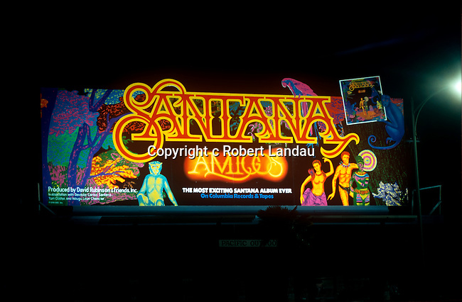 Santana Billboard on the Sunset Strip