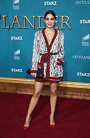 "HOLLYWOOD, CA - FEBRUARY 13: Melissa Barrera, at the Premiere Of Starz's ""Outlander"" Season 5 at HHollywood Palladium in Hollywood California on February 13, 2020. Credit: Faye Sadou/MediaPunch"
