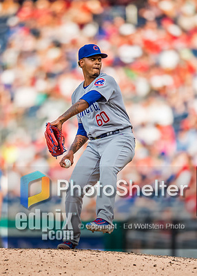 29 June 2017: Chicago Cubs pitcher Felix Pena on the mound against the Washington Nationals at Nationals Park in Washington, DC. The Cubs rallied to defeat the Nationals 5-4 and split their 4-game series. Mandatory Credit: Ed Wolfstein Photo *** RAW (NEF) Image File Available ***