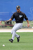 March 29, 2010:  Outfielder Daniel Perales of the Toronto Blue Jays organization during Spring Training at the Englebert Minor League Complex in Dunedin, FL.  Photo By Mike Janes/Four Seam Images