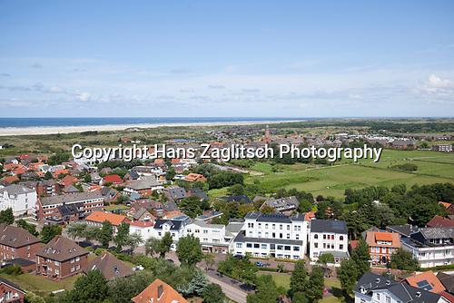 Blick von neuen Leuchtturm gen Osten, Borkum, Ostfriesische Inseln