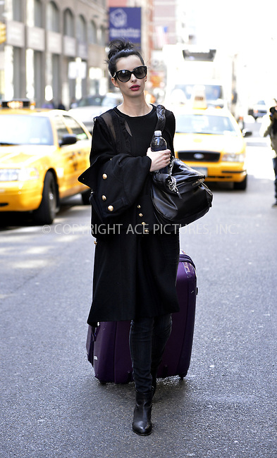 WWW.ACEPIXS.COM....April 4 2013, New York City....Actress Krysten Ritter leaves a Soho hotel on April 4 2013 in New York City......By Line: Curtis Means/ACE Pictures......ACE Pictures, Inc...tel: 646 769 0430..Email: info@acepixs.com..www.acepixs.com