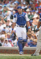 Michael Barrett of the Chicago Cubs vs. the San Diego Padres: June 18th, 2007 at Wrigley Field in Chicago, IL.  Photo by Mike Janes/Four Seam Images