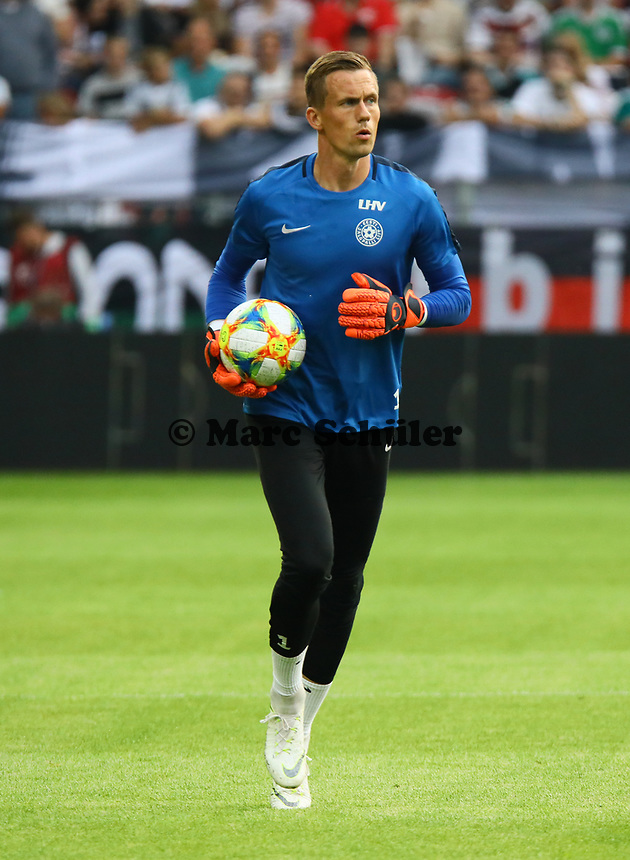 Torwart Mikhel Aksalu (Estland, Estonia) - 11.06.2019: Deutschland vs. Estland, OPEL Arena Mainz, EM-Qualifikation DISCLAIMER: DFB regulations prohibit any use of photographs as image sequences and/or quasi-video.