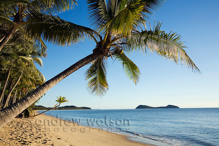 Clifton Beach with Double Island in background.  Cairns, Queensland, Australia