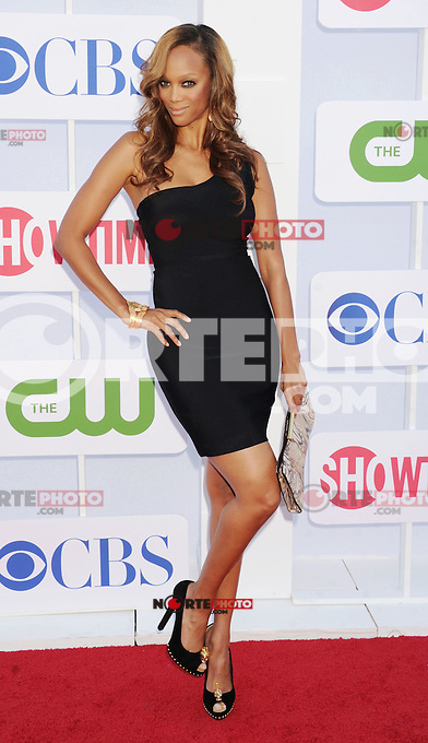 BEVERLY HILLS, CA - JULY 29: Tyra Banks arrives at the CBS, Showtime and The CW 2012 TCA summer tour party at 9900 Wilshire Blvd on July 29, 2012 in Beverly Hills, California. /NortePhoto.com<br />