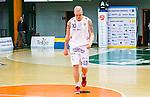 S&ouml;dert&auml;lje 2014-04-15 Basket SM-Semifinal 5 S&ouml;dert&auml;lje Kings - Uppsala Basket :  <br /> Uppsalas Axel Nordstr&ouml;m deppar efter matchen<br /> (Foto: Kenta J&ouml;nsson) Nyckelord:  S&ouml;dert&auml;lje Kings SBBK Uppsala Basket SM Semifinal Semi T&auml;ljehallen depp besviken besvikelse sorg ledsen deppig nedst&auml;md uppgiven sad disappointment disappointed dejected