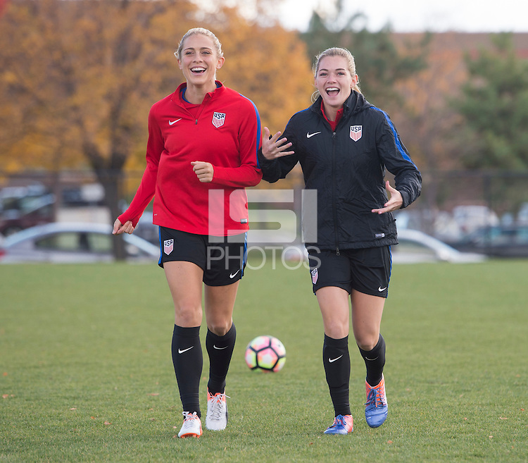 Sandy, UT- October 17, 2016: The USWNT trained in preparation for their friendly against Switzerland at Rio Tinto Stadium.