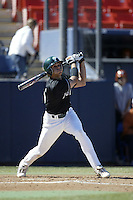 Tony Giarratano of the Tulane Green Wave bats during a game against the Texas Longhorns at Goodwin Field on March 2, 2003 in Fullerton, California. (Larry Goren/Four Seam Images)