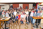 Denis O'Connor, Tullig, Killarney, pictured with his family and some of his many friends as he celebrated his 50th birthday in the Klub Bar, Kilcummin on Saturday night...................................