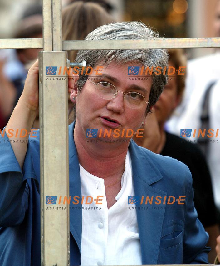 Roma 22 Luglio 2003<br /> Manifestazione Centrosinistra e Rifondazione contro il decreto legge Gasparri sull'informazione.<br /> Nella foto Rosy Bindi<br /> Foto Andrea Staccioli Insidefoto