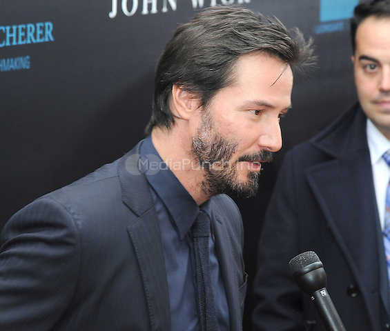 New York, NY- October 13: Keanu Reeves attends the Summit Entertainment and Thunder Road Pictures New York screening of John Wick   at the Regal Union Square on October 13, 2014 in New York City. Credit: John Palmer/MediaPunch