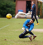 Wes Foderingham saves in training
