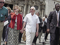 Former US President Jimmy Carter and wife Rosalynn Carter pictured while on a six-day visit to Cuba, and is the first American president to visit the communist island since Fidel Castro took power in 1959. Credit: Jorge Rey/MediaPunch