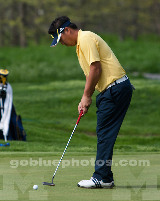 University of Michigan men's golf finished in sixth place at the 2011 Big Ten Tournament in West Lafayette IN, on May 1, 2011.