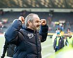 Kilmarnock manager Steve Clarke celebrates at full time