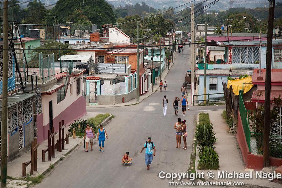 HAVANA, CUBA -- MARCH 25, 2015:   People walk on a street in Havana, Cuba on March 25, 2015. Photograph by Michael Nagle