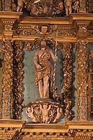 Europe/France/Aquitaine/64/Pyrénées-Atlantiques/Pays-Basque/Saint-Jean-de-Luz: L' église Saint-Jean-Baptiste - Retable monumental, en bois doré sculpté détail