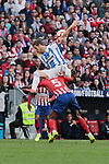 Atletico de Madrid's Thomas Teye and CD Leganes's Ruben Perez during La Liga match between Atletico de Madrid and CD Leganes at Wanda Metropolitano stadium in Madrid, Spain. March 09, 2019. (ALTERPHOTOS/A. Perez Meca)
